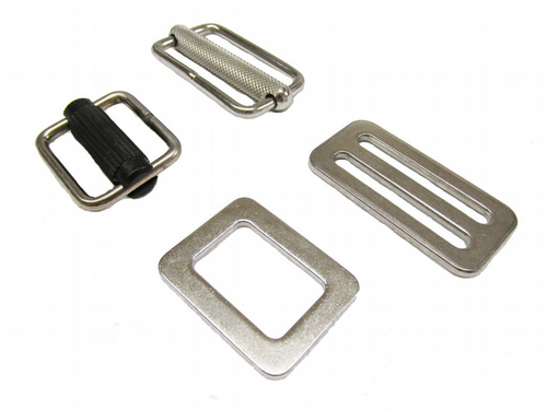 Webbing Buckles, Slides & Bridges ( Straps, Metal )